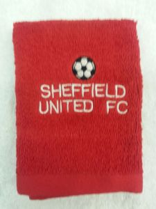 SHEFFIELD UNITED PERSONALISED FACE CLOTH